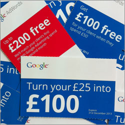Google Adwords vouchers
