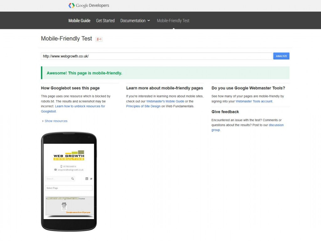 google-mobile-friendly-test-site