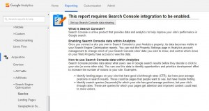 Google Analytics search console link