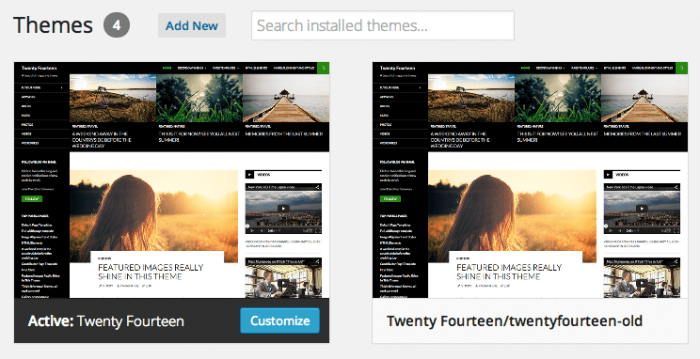 How to update your WordPress theme - folder rename method