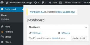 WordPress updates to 4.6
