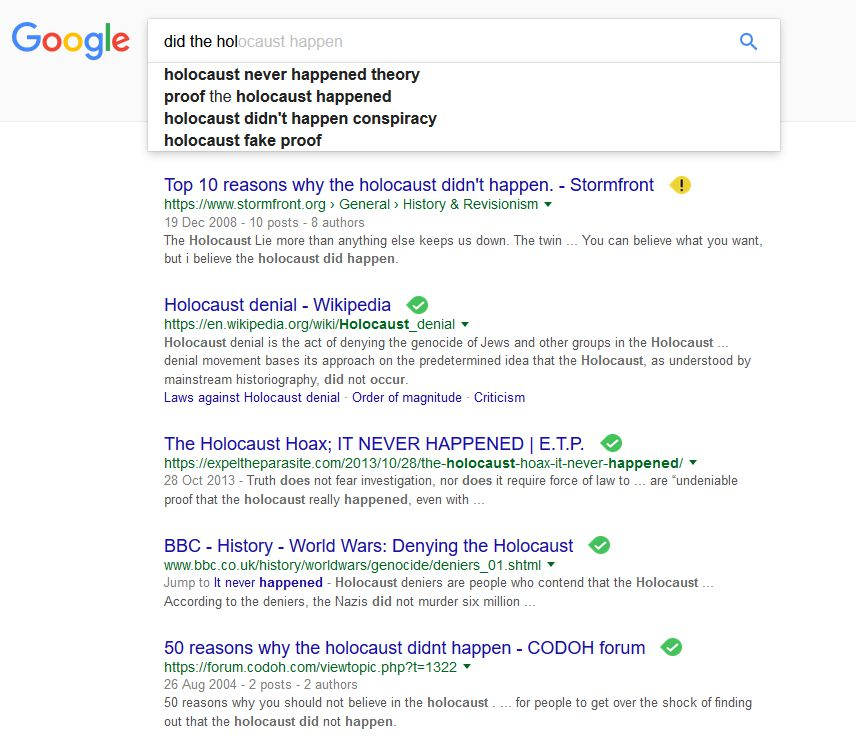 Google results did the holocaust?