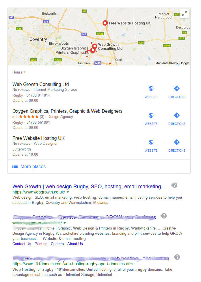 SEO Rugby ranking high on search engines