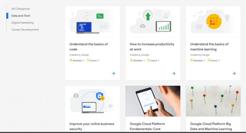 Google digital garage new digital and tech
