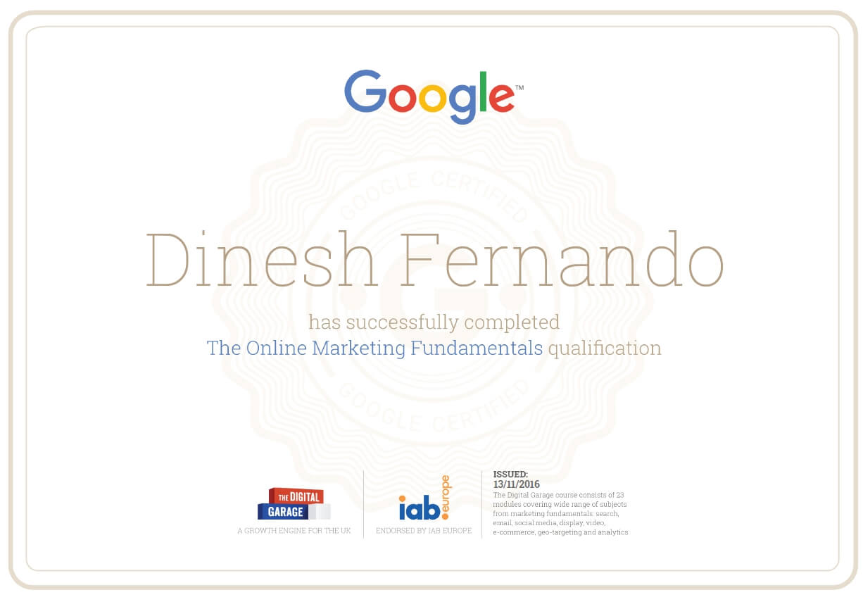 ‪learndigital withgoogle certificate‬‏
