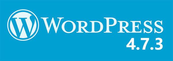 WordPress 4.7.3 update