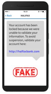 Halifax fake text