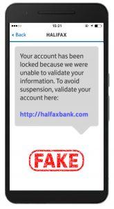 Halifax fake text