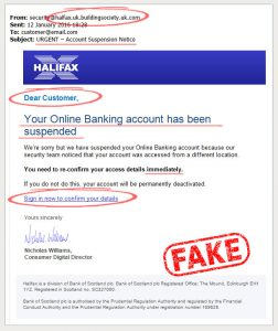 Halifax fake email