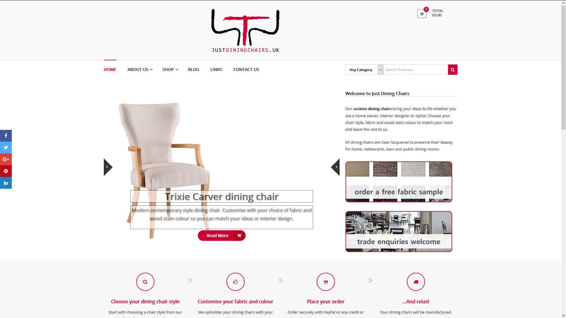 Just Dining Chairs home page