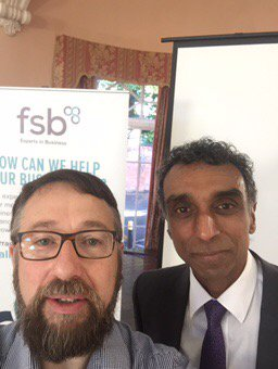 Dinesh Fernando and Paul Miles Rogers Rugby FSB meeting Sept 2017