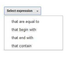GA - Select Expression