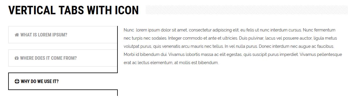 Interactive content - vertical tabs