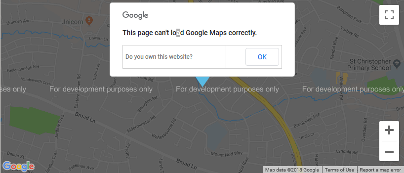 Google Maps api error