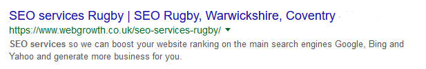 SEO Rugby snippet