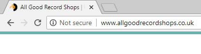 SSL chrome note secure