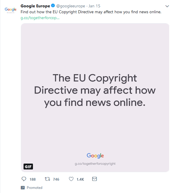Google Together for Copyright campaign