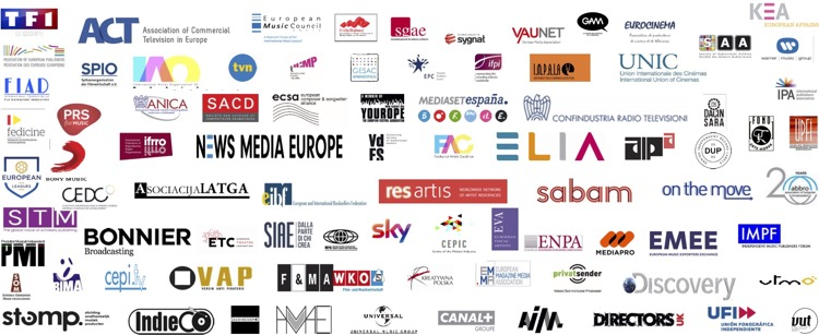 EU music organisations supporting Article 13