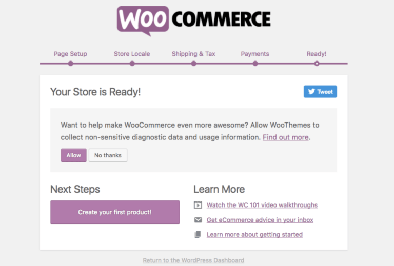 Woocommerce setup tutorial