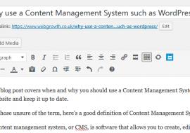 Edit website contents