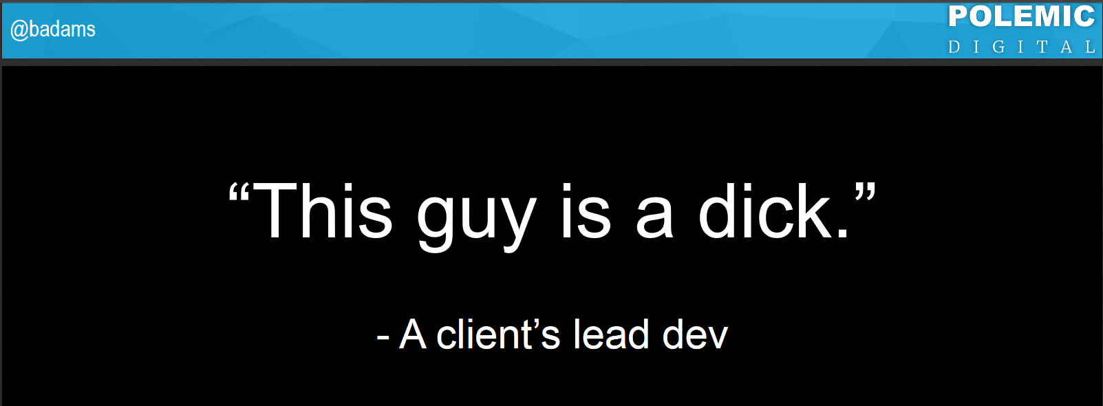 Barry Adams Polemic SEO - this guy is a dick web design and SEO